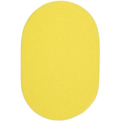 Saiha Yellow Indoor/Outdoor Area Rug Rug Size: Oval 4' x 6'