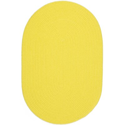 Saiha Yellow Indoor/Outdoor Area Rug Rug Size: Oval 7' x 9'