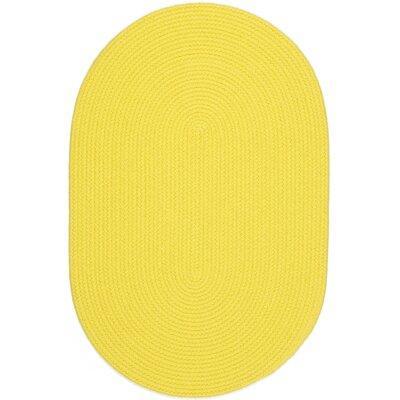 Saiha Yellow Indoor/Outdoor Area Rug Rug Size: Oval 8' x 11'