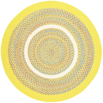 Sailu Yellow Indoor/Outdoor Area Rug Rug Size: Round 4