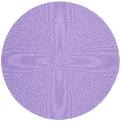 Sainthia Violet Indoor/Outdoor Area Rug Rug Size: Round 4