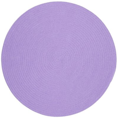 Sainthia Violet Indoor/Outdoor Area Rug Rug Size: Round 6