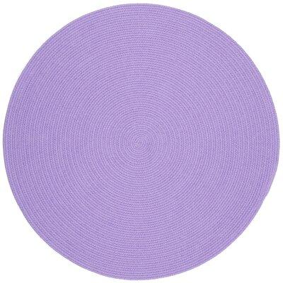 Sainthia Violet Indoor/Outdoor Area Rug Rug Size: Round 6