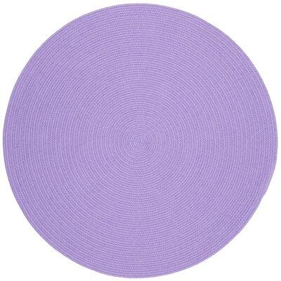 Sainthia Violet Indoor/Outdoor Area Rug Rug Size: Round 8