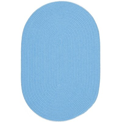 Sakti Blue Indoor/Outdoor Area Rug Rug Size: Oval 4 x 6