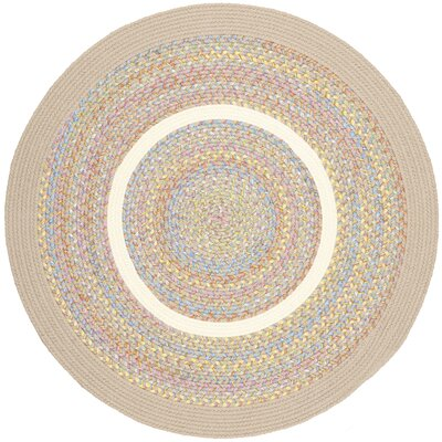 Salaya Beige Indoor/Outdoor Area Rug Rug Size: Round 4