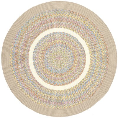 Salaya Beige Indoor/Outdoor Area Rug Rug Size: Round 6