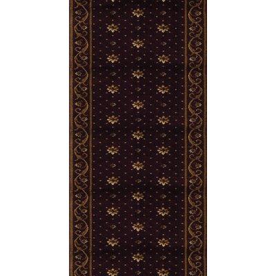 Samalkha Black Area Rug Rug Size: Runner 27 x 8