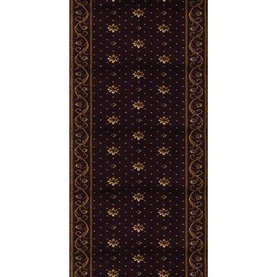 Samalkha Black Area Rug Rug Size: Runner 27 x 12