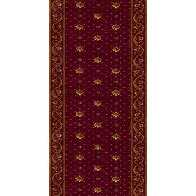 Sambhar Red Area Rug Rug Size: Runner 27 x 8