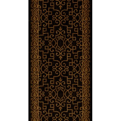 Sanchore Black Area Rug Rug Size: Runner 27 x 15