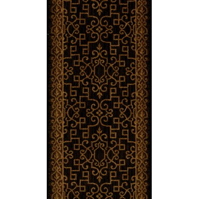 Sanchore Black Area Rug Rug Size: Runner 27 x 12
