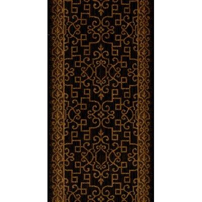 Sanchore Black Area Rug Rug Size: Runner 22 x 10
