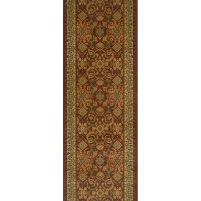 Sangole Dark Red Area Rug Rug Size: Runner 27 x 12