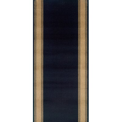 Sasvad Black Area Rug Rug Size: Runner 27 x 15