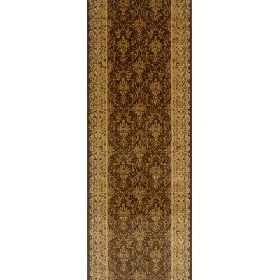 Sattur Brown Area Rug Rug Size: Runner 22 x 12