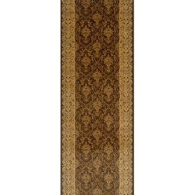 Sattur Brown Area Rug Rug Size: Runner 27 x 15