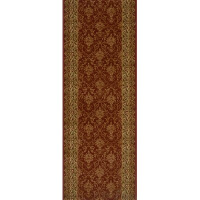 Sausar Red Area Rug Rug Size: Runner 22 x 15