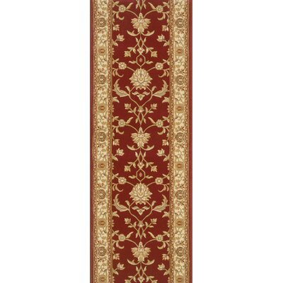 Savner Red Area Rug Rug Size: Runner 22 x 15