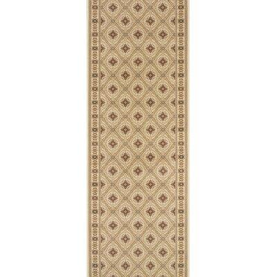 Rampur Beige Area Rug Rug Size: Runner 27 x 12