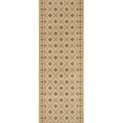 Rampur Beige Area Rug Rug Size: Runner 27 x 15