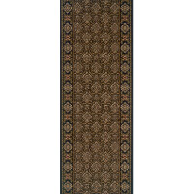 Shahbad Brown Area Rug Rug Size: Runner 27 x 8