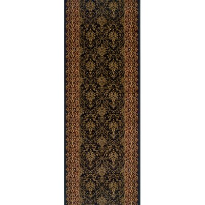Shahpura Black Area Rug Rug Size: Runner 27 x 15