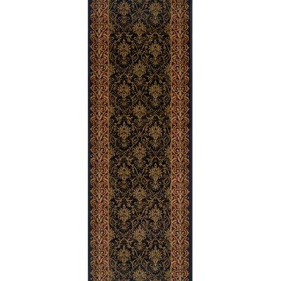 Shahpura Black Area Rug Rug Size: Runner 27 x 6