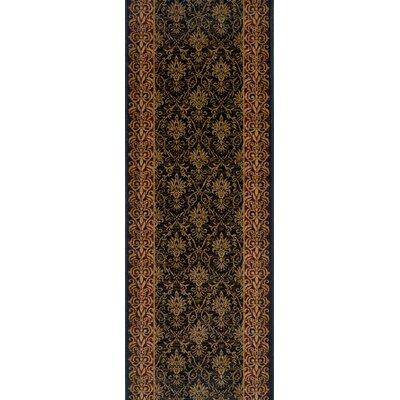Shahpura Black Area Rug Rug Size: Runner 27 x 8