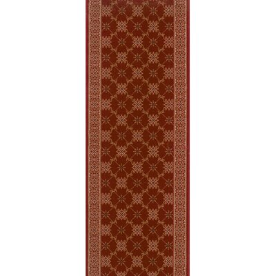 Shajapur Red Area Rug Rug Size: Runner 22 x 12