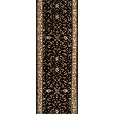 Shamgarh Black Area Rug Rug Size: Runner 27 x 10