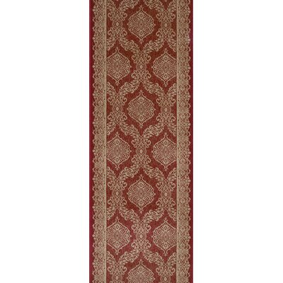 Shamli Red Area Rug Rug Size: Runner 22 x 15