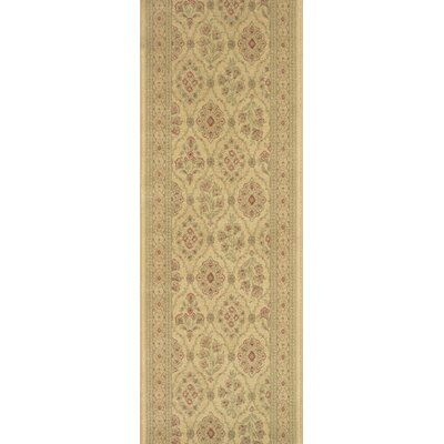 Sheopur Cream Area Rug Rug Size: Runner 27 x 15