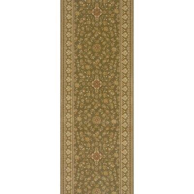 Shikarpur Olive Area Rug Rug Size: Runner 22 x 12