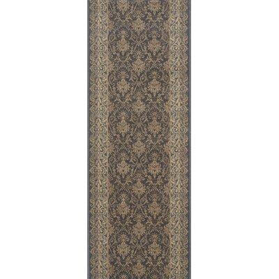 Bulandshahr Grey Area Rug Rug Size: Runner 22 x 10