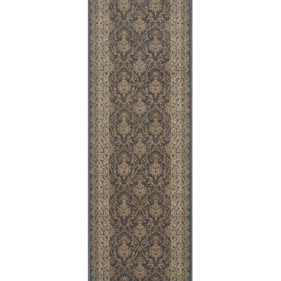 Bulandshahr Grey Area Rug Rug Size: Runner 22 x 15