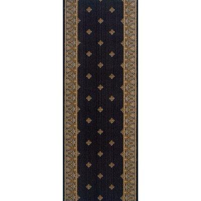 Warwade Charcoal Area Rug Rug Size: Runner 27 x 8