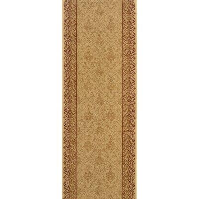 Sholavandan Gold Area Rug Rug Size: Runner 22 x 15