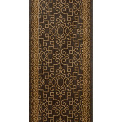 Shrirampur Brown Area Rug Rug Size: Runner 22 x 15