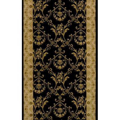 Sikandrabad Black Area Rug Rug Size: Runner 27 x 6