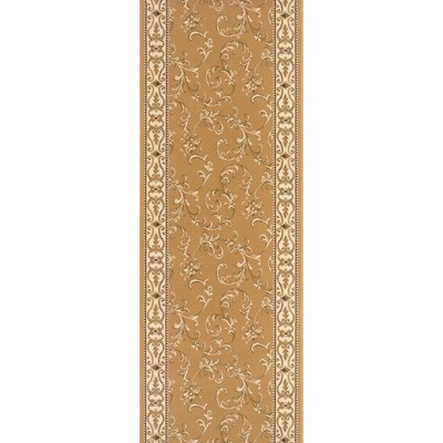 Sillod Gold Area Rug Rug Size: Runner 22 x 12