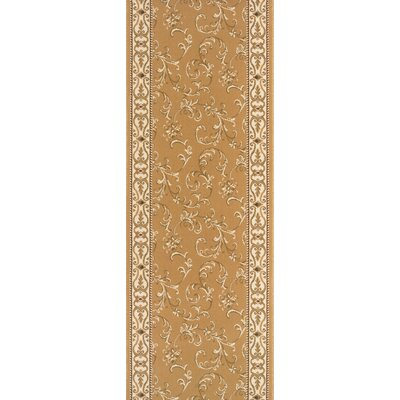 Sillod Gold Area Rug Rug Size: Runner 27 x 12