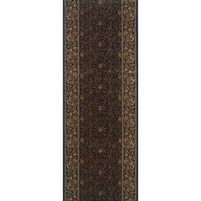 Sahib Brown Area Rug Rug Size: Runner 27 x 8