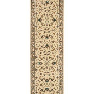 Sirkali Ivory Area Rug Rug Size: Runner 27 x 15