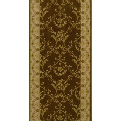 Sirohi Brown Area Rug Rug Size: Runner 22 x 15