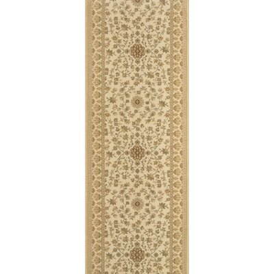 Sironj Beige Area Rug Rug Size: Runner 22 x 15