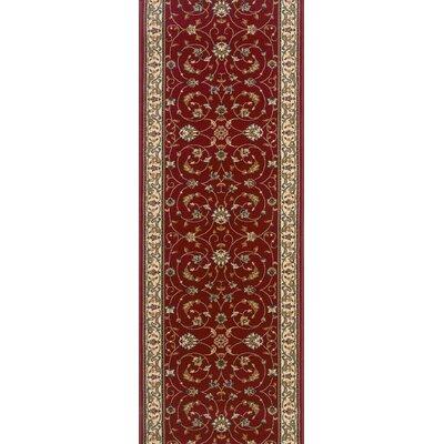 Sirsi Burgundy Area Rug Rug Size: Runner 27 x 10