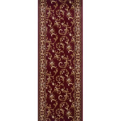 Siruguppa Red Area Rug Rug Size: Runner 27 x 15
