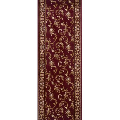 Siruguppa Red Area Rug Rug Size: Runner 27 x 8