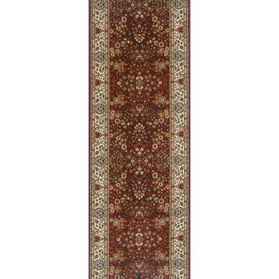 Sitamarhi Burgundy Area Rug Rug Size: Runner 27 x 15